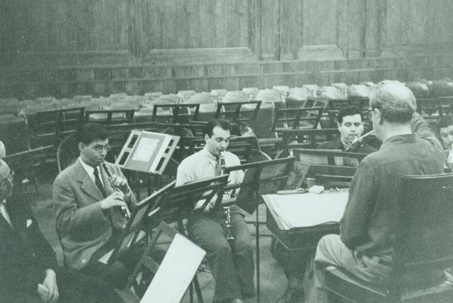 334 Marcel Tabuteau conducting wind class circa 1948.JPG